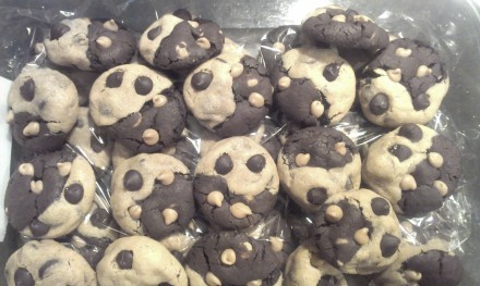 Soft Baked Peanut Butter Chocolate Swirl Cookies by TheActuarialChef
